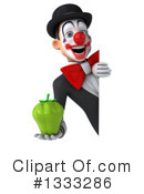 White And Black Clown Clipart #1333286 by Julos