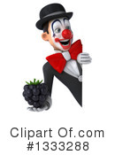 White And Black Clown Clipart #1333288 by Julos