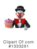 White And Black Clown Clipart #1333291 by Julos