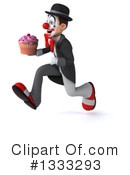 White And Black Clown Clipart #1333293 by Julos