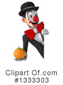 White And Black Clown Clipart #1333303 by Julos