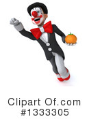 White And Black Clown Clipart #1333305 by Julos