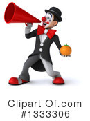 White And Black Clown Clipart #1333306 by Julos