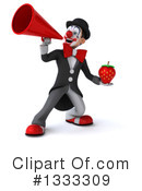 White And Black Clown Clipart #1333309 by Julos