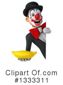 White And Black Clown Clipart #1333311 by Julos