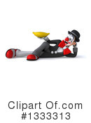 White And Black Clown Clipart #1333313 by Julos
