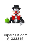 White And Black Clown Clipart #1333315 by Julos