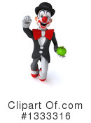 White And Black Clown Clipart #1333316 by Julos