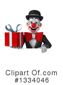 White And Black Clown Clipart #1334046 by Julos