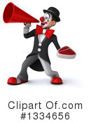 White And Black Clown Clipart #1334656 by Julos