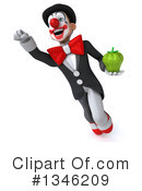 White And Black Clown Clipart #1346209 by Julos