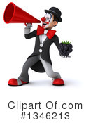 White And Black Clown Clipart #1346213 by Julos