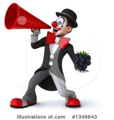 White And Black Clown Clipart #1349843 by Julos