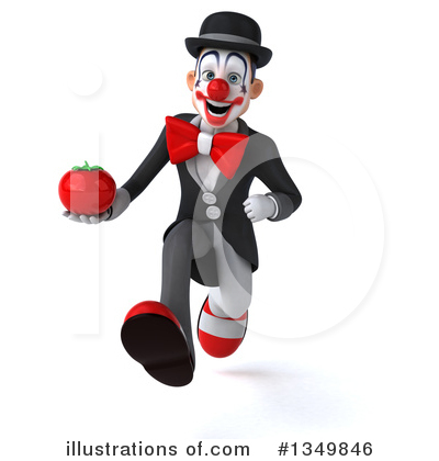 White And Black Clown Clipart #1349846 by Julos