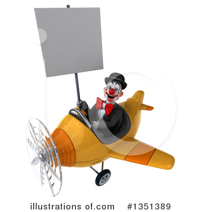 White And Black Clown Clipart #1351389 by Julos