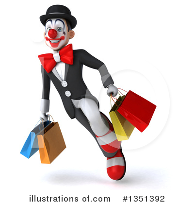 White And Black Clown Clipart #1351392 by Julos