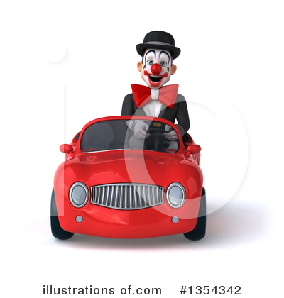 White And Black Clown Clipart #1354342 by Julos