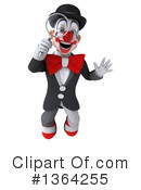 White And Black Clown Clipart #1364255 by Julos