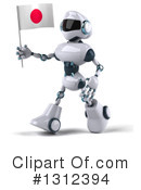 White And Blue Robot Clipart #1312394 by Julos
