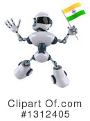 White And Blue Robot Clipart #1312405 by Julos