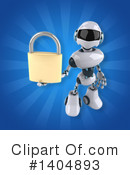 White And Blue Robot Clipart #1404893 by Julos