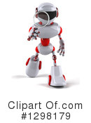 White And Red Robot Clipart #1298179 by Julos