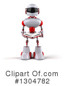 White And Red Robot Clipart #1304782 by Julos