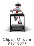 White And Red Robot Clipart #1316077 by Julos