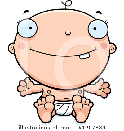 White Baby Clipart #1207889 by Cory Thoman