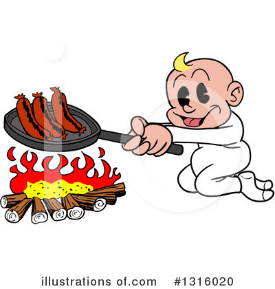 Campfire Clipart #1316020 by LaffToon