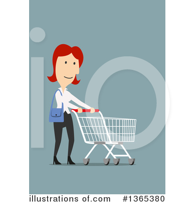 Shopping Cart Clipart #1365380 by Vector Tradition SM