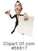 White Businessman Character Clipart #56817 by Julos