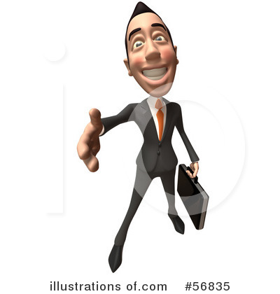 White Businessman Character Clipart #56835 by Julos