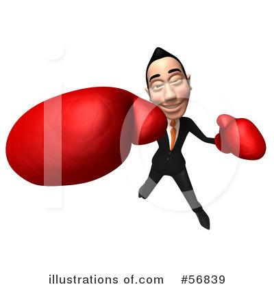 Royalty-Free (RF) White Businessman Character Clipart Illustration by Julos - Stock Sample #56839