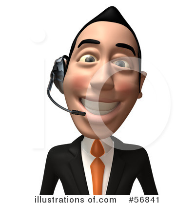 White Businessman Character Clipart #56841 by Julos
