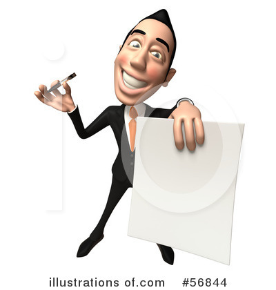 White Businessman Character Clipart #56844 by Julos