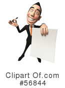 Royalty-Free (RF) White Businessman Character Clipart Illustration #56844