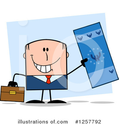 Royalty-Free (RF) White Businessman Clipart Illustration by Hit Toon - Stock Sample #1257792
