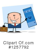 White Businessman Clipart #1257792