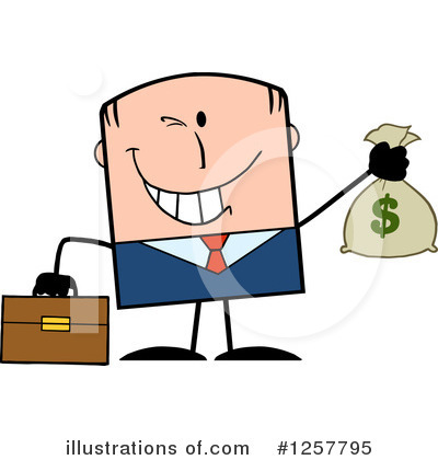 White Businessman Clipart #1257795 by Hit Toon