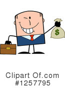 White Businessman Clipart #1257795