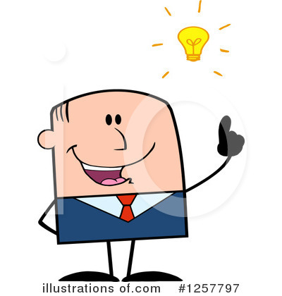 White Businessman Clipart #1257797 by Hit Toon