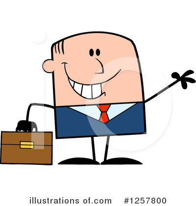 White Businessman Clipart #1257800 by Hit Toon