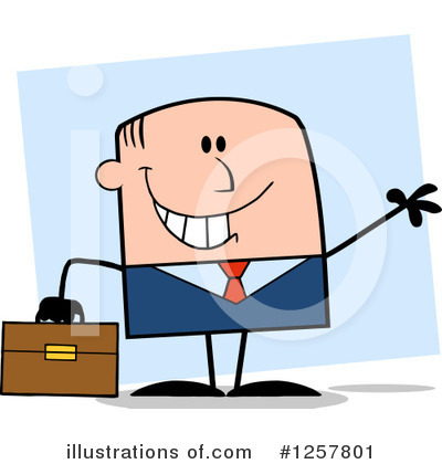White Businessman Clipart #1257801 by Hit Toon