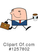 White Businessman Clipart #1257802 by Hit Toon