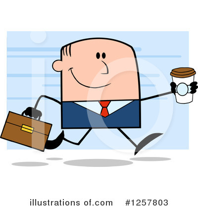 White Businessman Clipart #1257803 by Hit Toon
