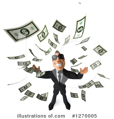 White Businessman Clipart #1270005 by Julos