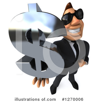 White Businessman Clipart #1270006 by Julos