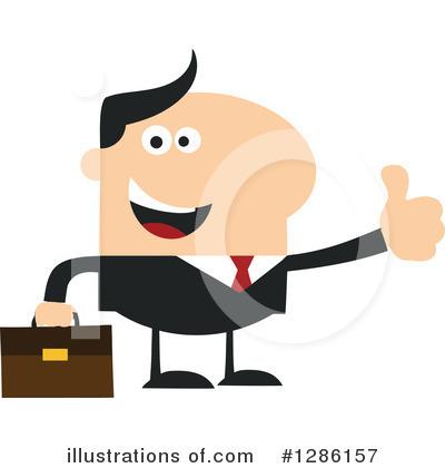 White Businessman Clipart #1286157 by Hit Toon