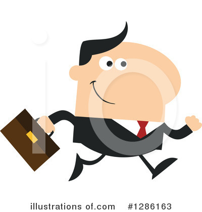 White Businessman Clipart #1286163 by Hit Toon